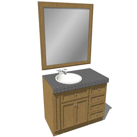 Bathroom Mirror With Built In Shelf Bathroom Sink W Drawers 01 3d Model Formfonts 3d Models