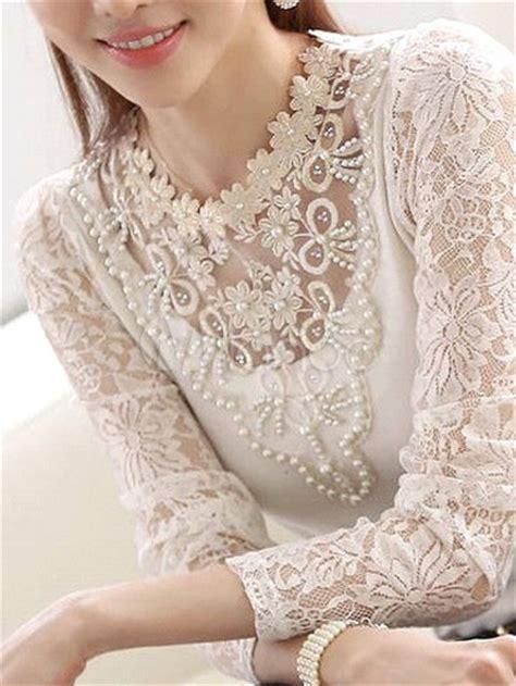 imagenes de blusas blancas con encajes blusas blancas de encaje