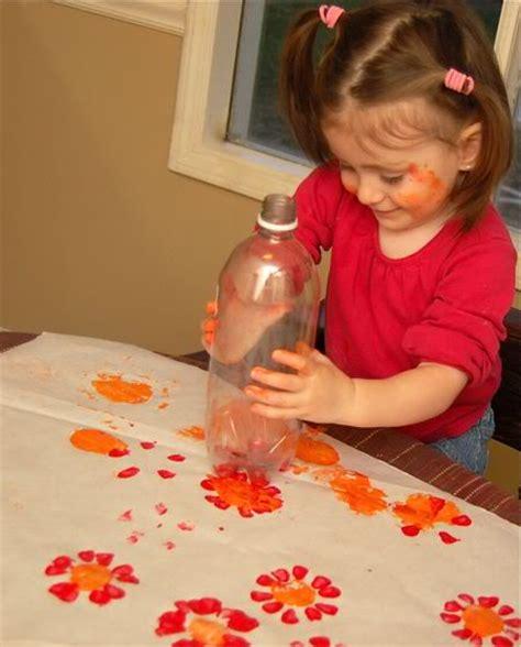 Soda Bottle Flower Painting | flower prints from soda bottles inner child fun