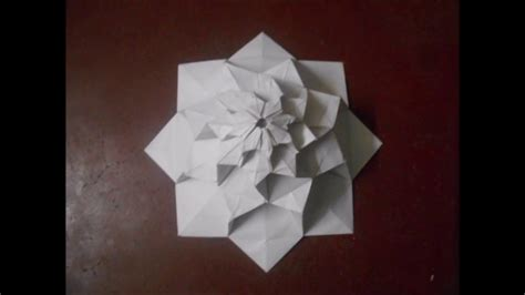 origami 8 petal flower tower by chris k palmer