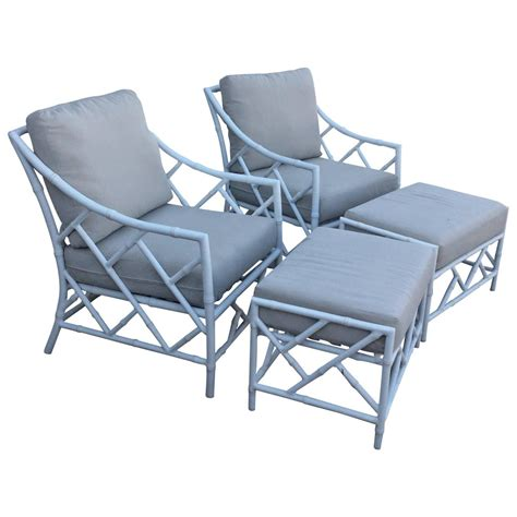 aluminum bamboo patio chairs chippendale pair faux bamboo metal patio lounge