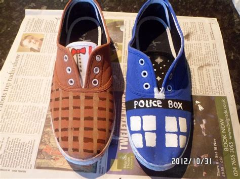 dr who sneakers doctor who shoes 183 how to paint a pair of character shoes