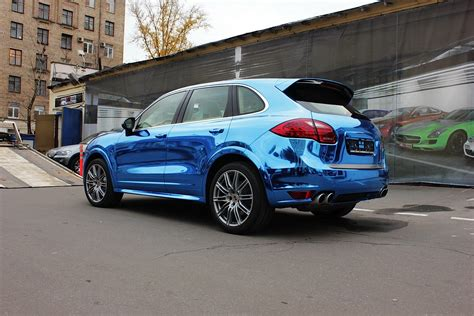 chrome porsche porsche cayenne blue chrome autoevolution