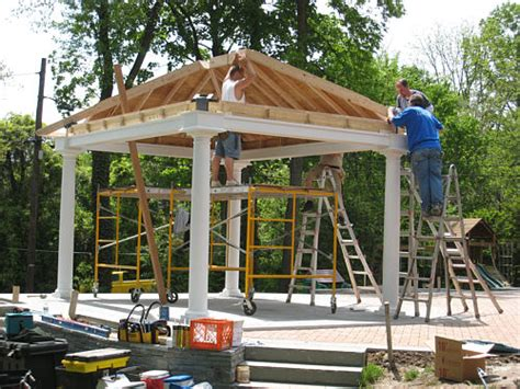 building a backyard pavilion construction plans for building a pavilion 171 unique house