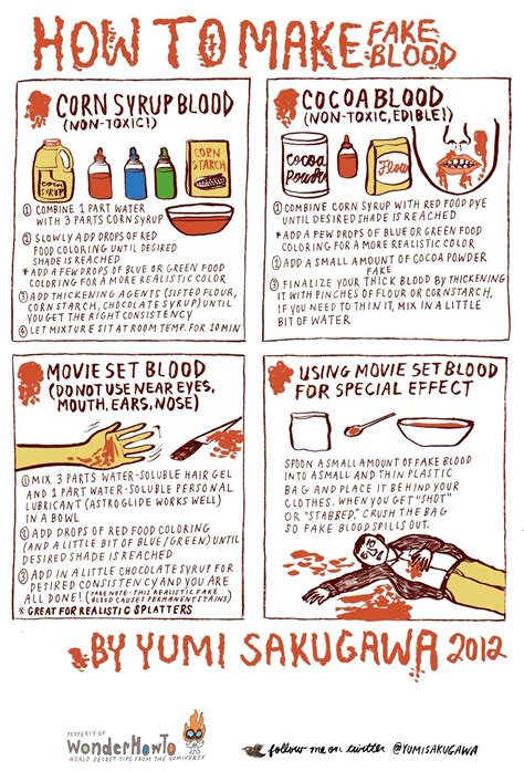how to make realistic looking fake blood 171 the secret yumiverse
