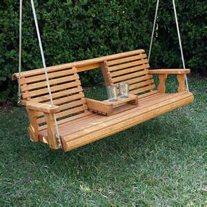 porchgate amish heavy duty 700 lb rollback console treated porch swing with hanging ropes