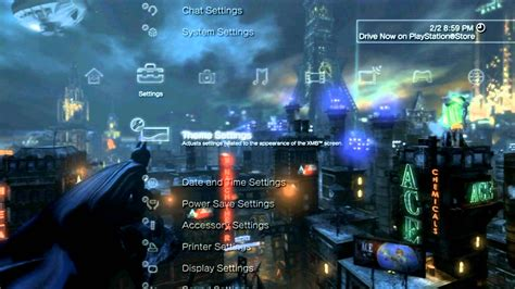 themes ps3 hd dynamic batman arkham city dynamic ps3 theme youtube