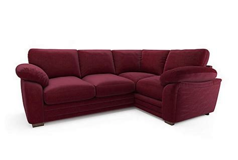 plum corner sofa featherby lhf corner group sofa plum absolute home