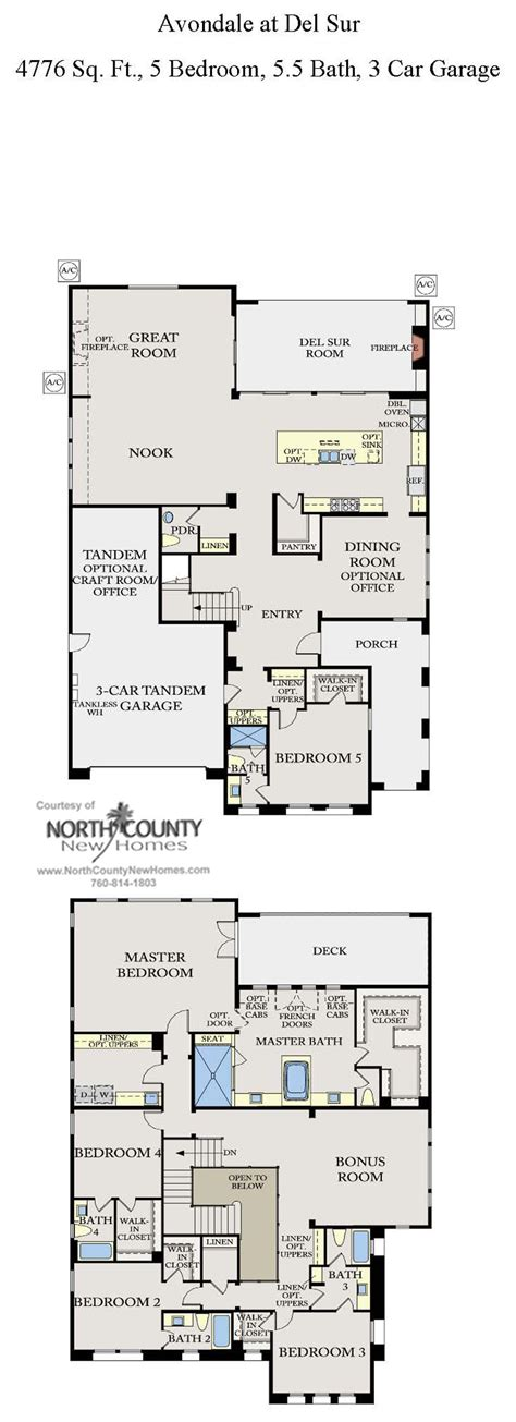 avondale at del sur floor plans new homes in del sur