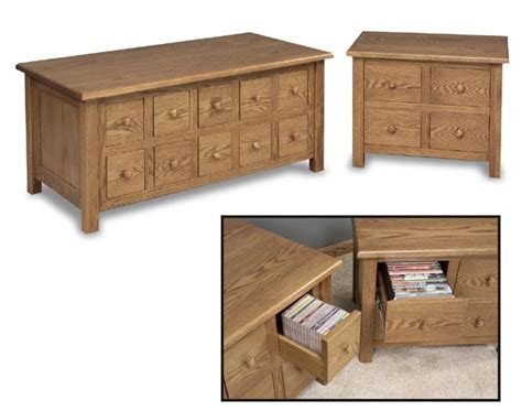 cd coffee table and dvd end table amish family room and