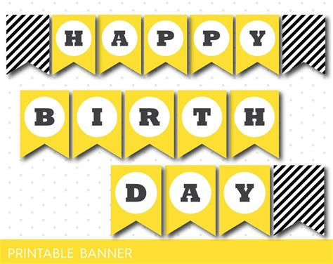 printable yellow banner yellow printable banner with black stripes full alphabet