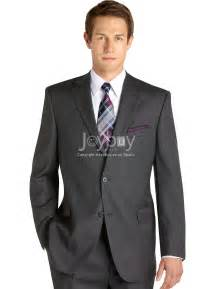 Classic fit notch lapel two buttons grey wedding suits for men