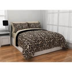 Bed Sets At Walmart Formula Brushstroke Cheetah Reversible Bed In A Bag Bedding Set Walmart