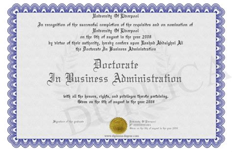 Business Doctoral Programs by Business Administration May 2015