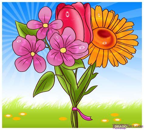spring pictures to draw how to draw spring flowers step by step flowers pop