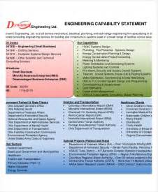 capability statement template word capability statement templates 9 free pdf documents