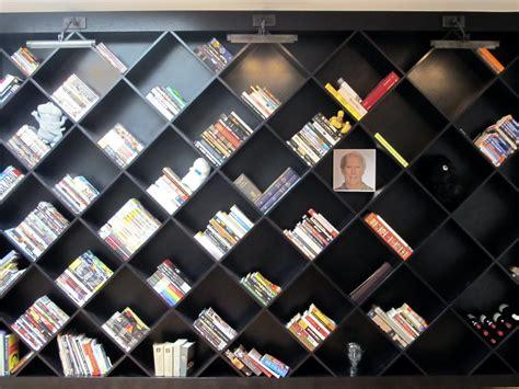 diagonal bookcase design plans plans