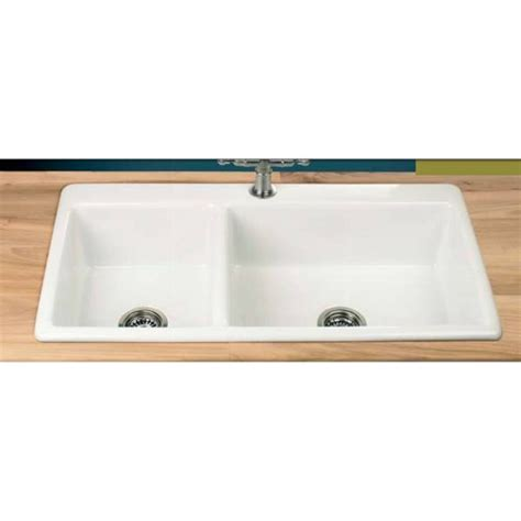 ceramic sinks kitchen clearwater bistro 1 75 bowl 965mm x 508mm ceramic inset