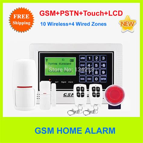 free shipping touch keypad home security alarm gsm alarm