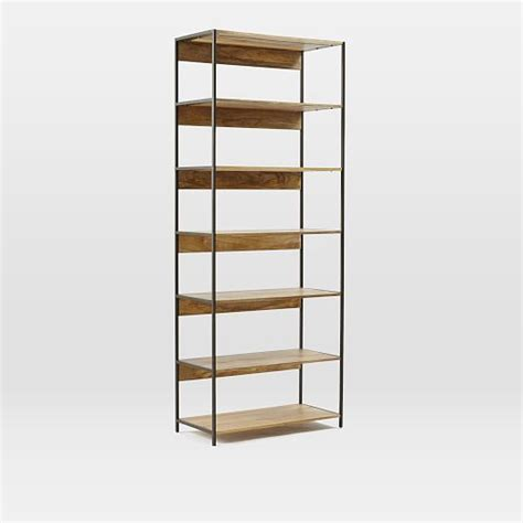 industrial modular 33 quot bookshelf west elm