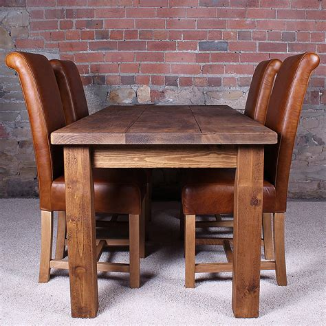 Solid Wood Dining Room Table And Chairs Original Dining Tables For Sale And Solid Wood Padded Chair With Back On Shag Carpet Flooring