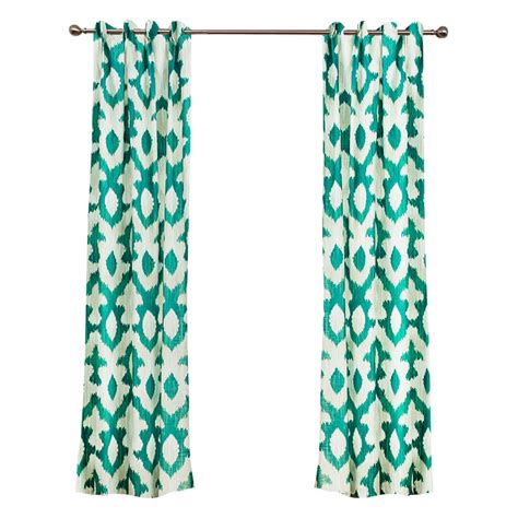 Green Patterned Curtains Emerald Green Patterned Summer Curtains