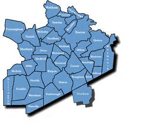 Map Of Boston Suburbs by Map Boston And Suburbs