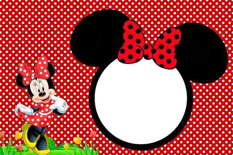 minnie mouse birthday invitation templates free minnie mouse photo invitation template orderecigsjuice info