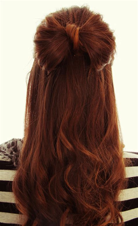 step by step hairstyles for long hair with bangs and curls 25 cute hair bow hairstyles for ladies sheideas
