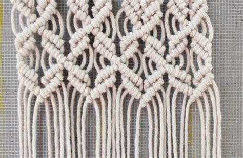 How To Do A Macrame Knot - mini macrame wall hanging diary