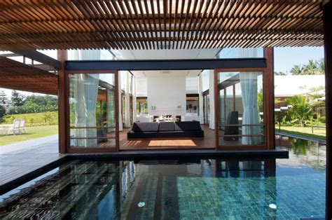 Living Room To Pool Khadakvasla House With Living Room Surrounded By Pool