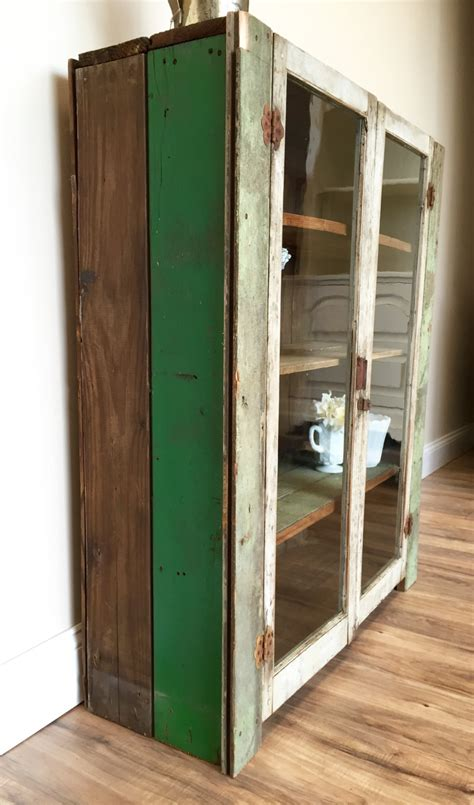 Jelly Cabinet With Glass Doors Primitive Cabinet Jelly Cupboard Farmhouse Furniture Pie Safe Glass Door Cabinet Jelly