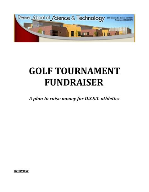 Golf Fundraising Letter Golf Tournament