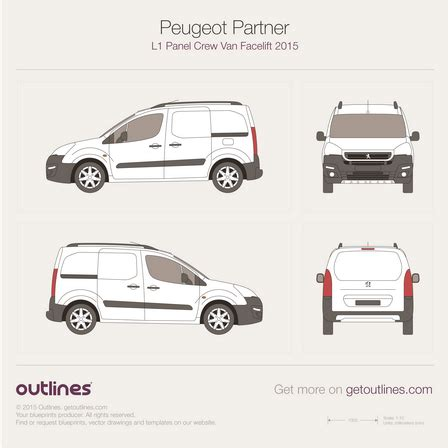 peugeot partner 2015 2015 peugeot partner drawings outlines
