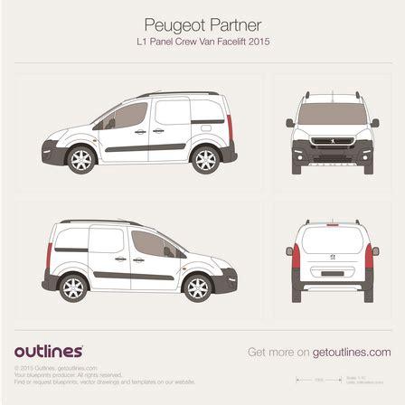 peugeot partner 2015 2015 peugeot partner drawings outlines