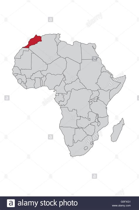 africa map morocco map of africa morocco stock photo royalty free image
