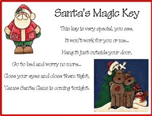 printable santa key poem pin by michelle evans on christmas pinterest