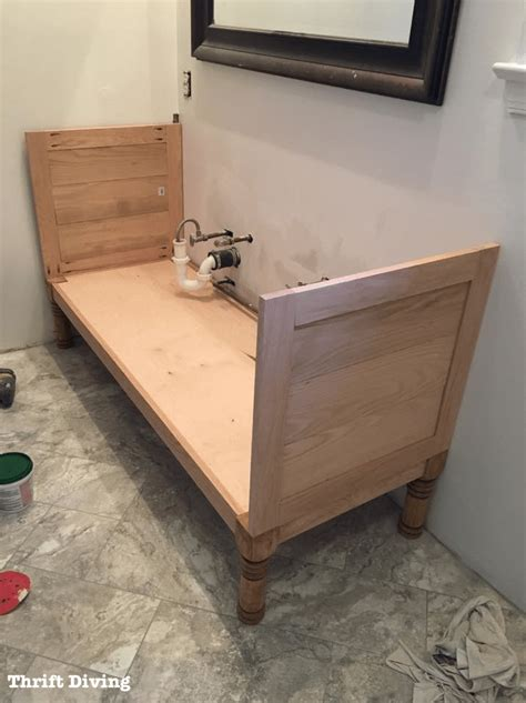 how to build a new bathroom how to build a 60 quot diy bathroom vanity from scratch