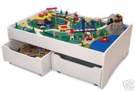 brio train table with drawers kidkraft train table trundles drawers thomos brio new