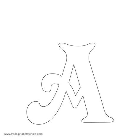 letter stencils template 17 best ideas about printable alphabet letters on