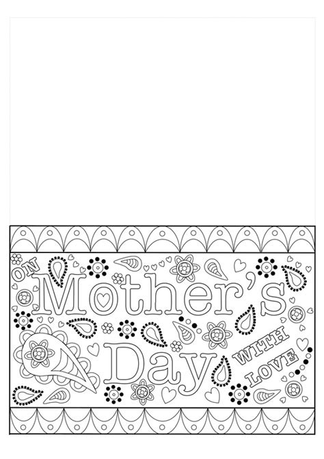 docs mothers day card template colouring mothers day card free printable template craft