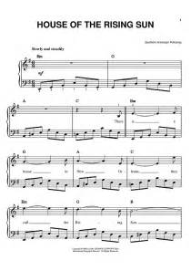 house of the rising sun piano music house of the rising sun sheet music for piano and more onlinesheetmusic com