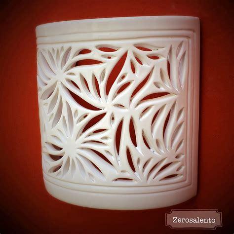 applique in terracotta illuminazione a parete applique intagliato a mano