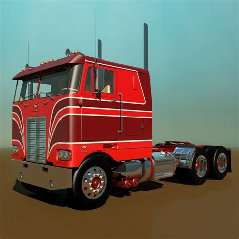 model semi trucks 352 semi truck 3d model max obj 3ds fbx mtl cgtrader com