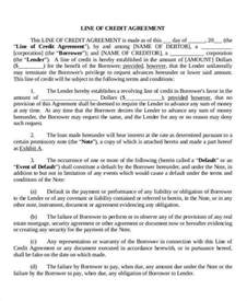 Agreement Letter Of Credit 6 Credit Agreement Exles In Word Pdf