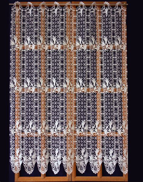 french macrame lace curtains french lace floral macrame cafe curtains