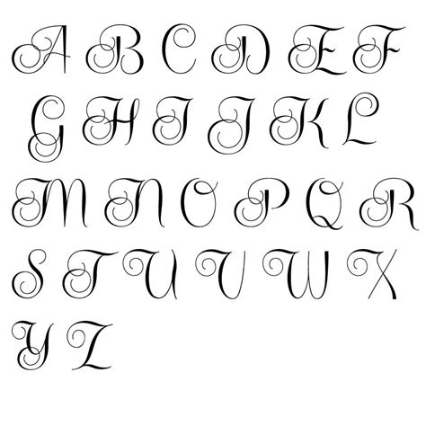 Cool Alphabet Fonts To Draw Www Pixshark Com Images Best Fonts For Initials