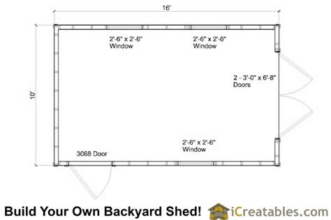 10 X 16 Shed Floor by 10x16 Gambrel Barn Shed Plans 10x16 Barn Shed Plans