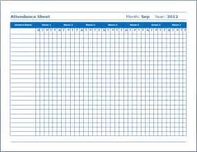 Free Attendance Sheet Template For Teachers by School Attendance Sheet Free Layout Format