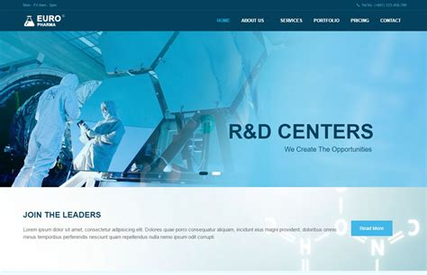 Pharma Industry Responsive Website Template Free Download Biotech Website Templates